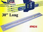 "30"" Square End GatorTools Light Weight Walking Trowel Kit"