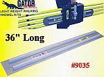 "36"" Square End GatorTools Light Weight Walking Trowel Kit"