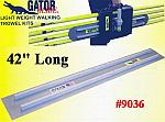 "42"" Square End GatorTools Light Weight Walking Trowel Kit"