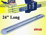 "24"" Round End GatorTools Light Weight Walking Trowel Kit"