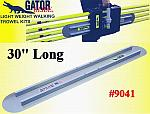 "30"" Round End GatorTools Light Weight Walking Trowel Kit"