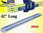 "42"" Round End GatorTools Light Weight Walking Trowel Kit"